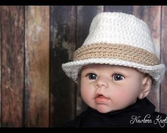 Pattern baby fedora hat | Etsy