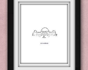 Los Angeles Griffith Observatory Minimalist Print