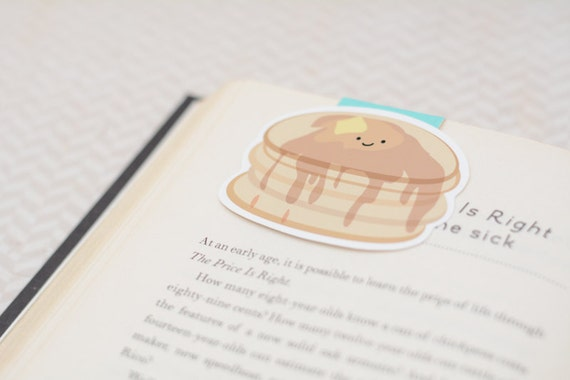 Pancake magnetic bookmark