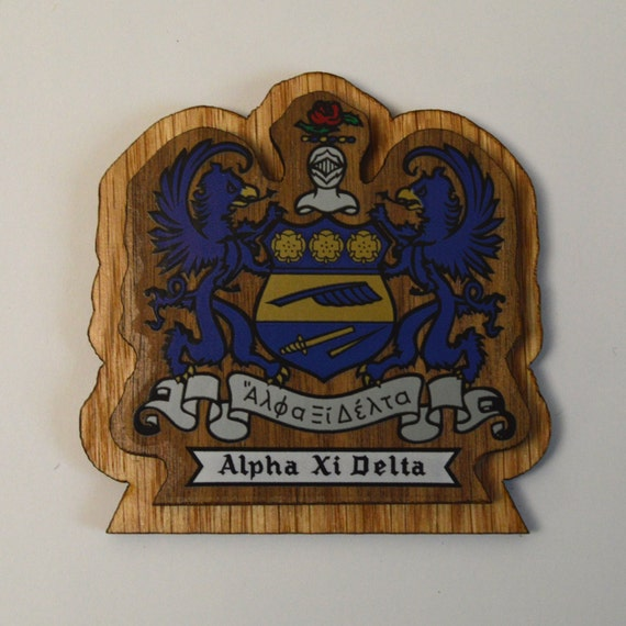Alpha Xi Delta 3.5 Double Raised Wood Crest For by ...