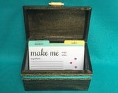 Recipe Box with 4 dividers & 20 recipe cards