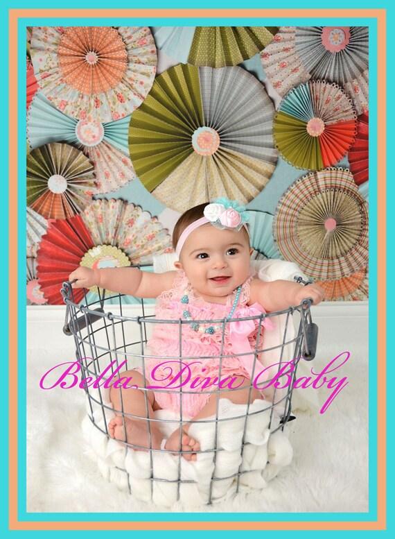 Sale baby romper lace black ruffle vintage baby girl vintage petti