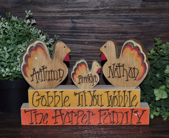 Decorating Ideas > Personalized Thanksgiving Block SetPersonalized Thanksgiving ~ 070224_Thanksgiving Decorations On Etsy
