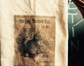 Chocolate bunny Floursack Tea Towel