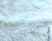 Faux Fur Fabric Yardage Remnant Piece /  Shaggy Faux Fur / All new sizes and colors