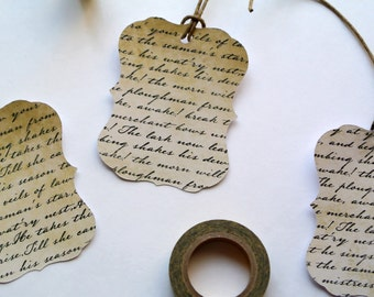 Vintage Scripture Tags with Strings Attached