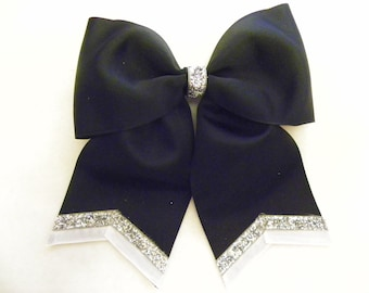 Black White and Silver Hairbow