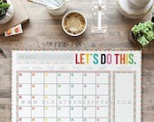 Monthly Calendar Desk Pad {Colorful Chevron}