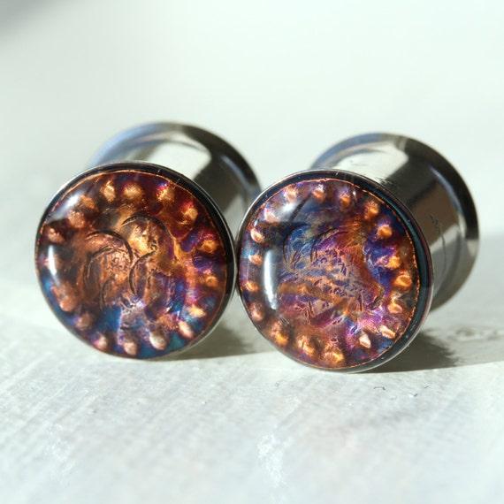 1/2 Gauges Metal Plugs Gauges Ear Custom Gauge by ...