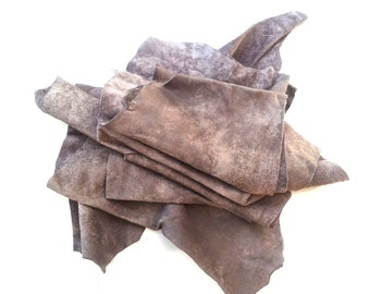 Leather Pieces for Crafting, Scrap Booking, Craft Supplies ,leather pieces, gray leather