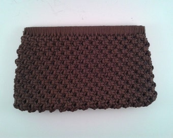 Vintage Brown Knotted Clutch