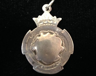 Antique english sterling silver sport medal
