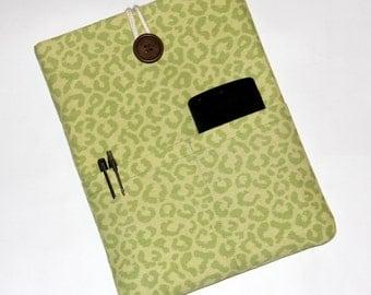 iPad Air Cover , 10 inch Tablet Case, iPad Sleeve, Handmade case,10 inch Tablets Sleeve, Google Nexus 10 Sleeve, Green Print,
