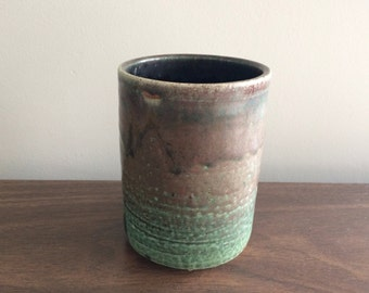 Studio Pottery Cylinder Small Vase