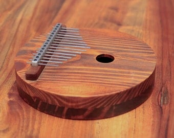 Acoustic Kalimba, 15 key, Proper harmonic design,Mbira,Thumb Piano, Dark Wood