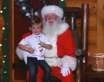 Christmas Santa on White Background Infant Toddler Youth Men's Standard Necktie