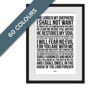 Psalm 23 - Bible Verse Art - Scripture Poster Art - Scripture Art Print - Christian Wall Decor - Typographic Print - Biblical Art Print