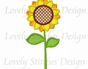 Sunflower Applique Machine Embroidery Design NO:0260