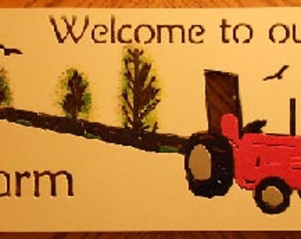 Kubota sign Welcome to our Farm welcome sign