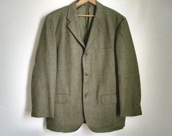 """Three-Button Green Wool Blazer by """"Mark Royal"""" - 42"""