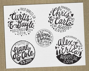 DIGITAL FILE for Custom Wedding Stamp