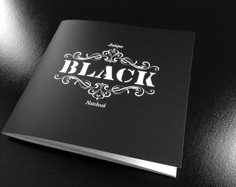 Antique Black Notebook