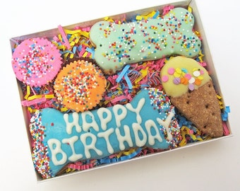 Happy Birthday Dog Treat Assortment Gift Box