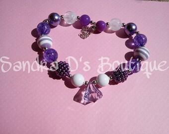 Purple bubble gum necklace