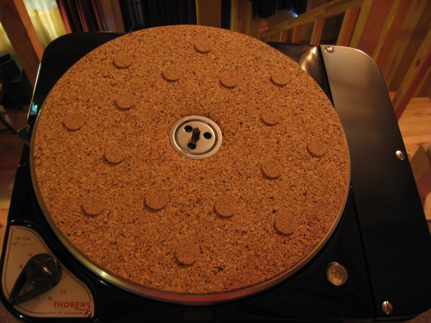 Thorens Td 124 Cork Turntable Mat Spot Mat By