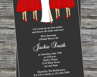 DIY - BRidal Party Bridal Shower Invitation # 47 - Coordinating Items Available