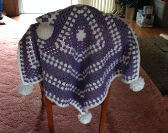 Adorable Baby Pompon Blanket
