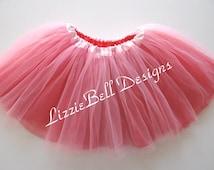 Pink_Red JUNIOR / ADULT 2 Color Ballet Tutu / Color Run Tutu  / Costume / Bachelorette Party