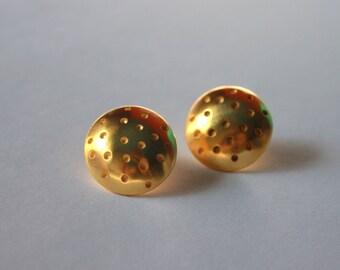 Polka dots earrings / gold plated
