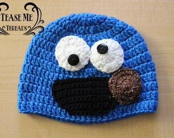 Cookie Monster Crochet Hat