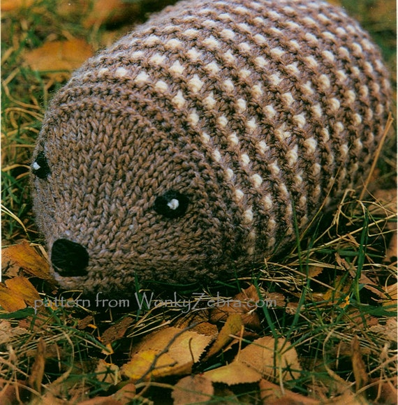 Toy Hedgehog Vintage Knitting Pattern PDF 526 from