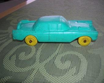 1950's  AUBURN RUBBER Toy THUNDERBIRD Toy Car #506 4 Door Hard Top Sedan