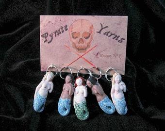Mermaid stitch markers