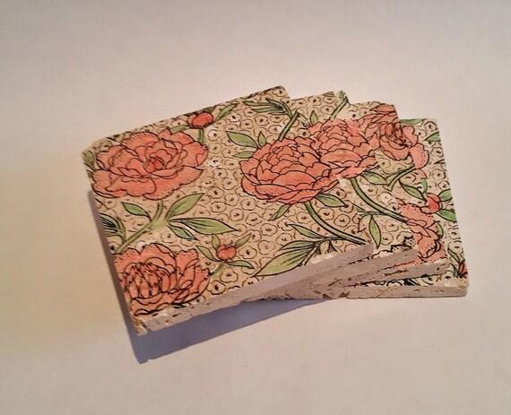 Pretty Rose Coasters Set Of 4