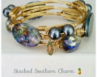 Gray Pearl and Abalone Stack
