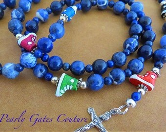 BOY'S FIRST Communion Rosary-Sports Track-Catholic Rosary-Personalized Boy Confirmation Gift-Religious Gifts-Boy's Rosaries-Catholic Gifts