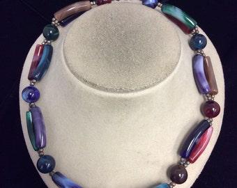 Vintage Colorful Plastic Necklace