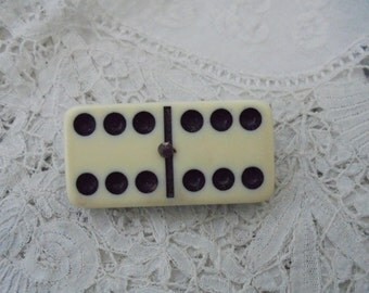Vintage domino brooch