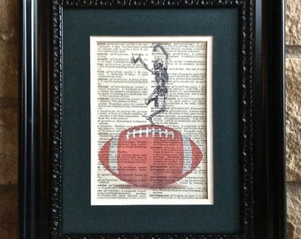 Football Skeleton - Gift for Doctor, Nurse, Medical Print - Football Fan - Football Widow