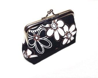 Floral print coin purse