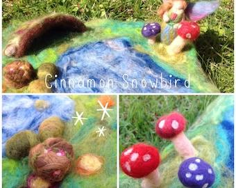 Waldorf Inspired Children's Playscape 'Spring Fairy Garden'