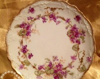 Beautiful, Antique,Fine Porcelain Limoges Plate