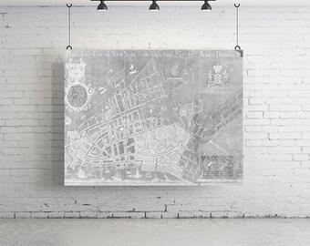 Large Plan of New York Print - Vintage Map, Wall Art