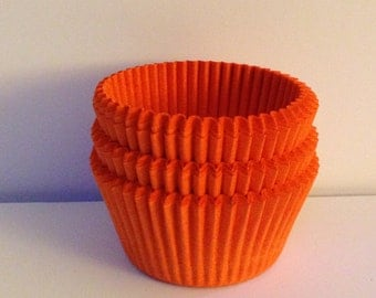 75 count -  Glassine Orange standard size cupcake liners/baking cups