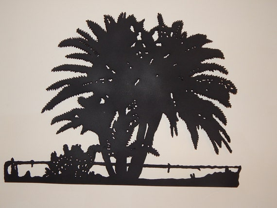Steel Metal Art Palm Trees Sebastian Riverfront FL By