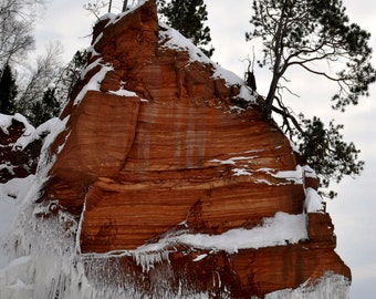 Bottom Built Up photograph 6.75x10 Fine Art Photography Print of the Apostle Island Ice Sea Caves on Lake Superior